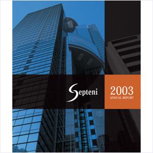 2003年(平成15年9月期)アニュアルレポート